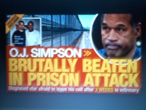 O.J. Simpson Gets Knocked Out In Prison