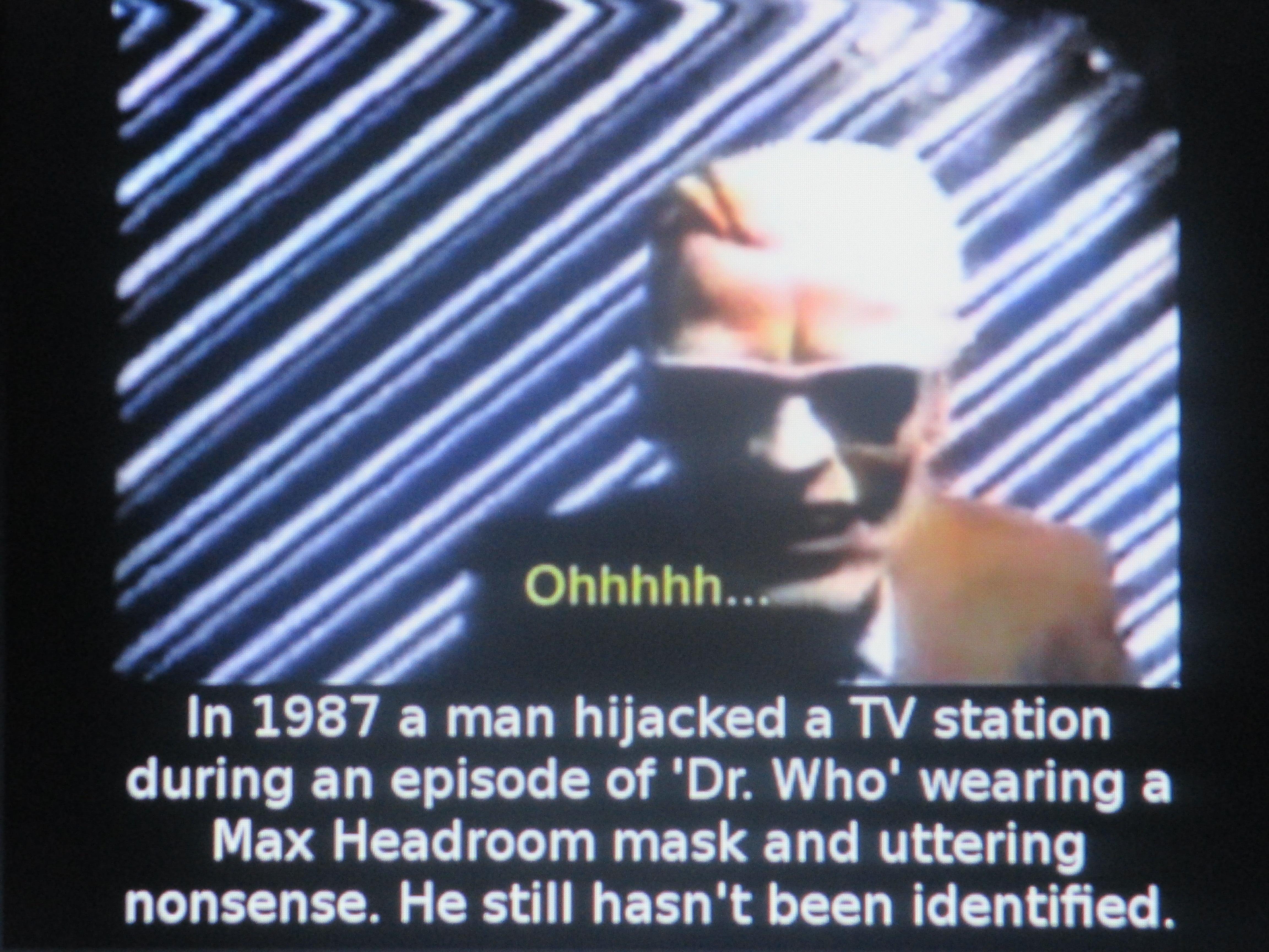max headroom broadcast signal intrusion. max headroom wannabes? broadcast signal intrusion t